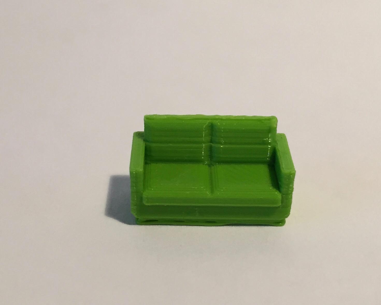 Canapé 2 places vert