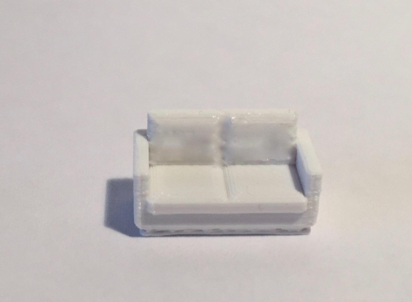 Canapé 2 places blanc