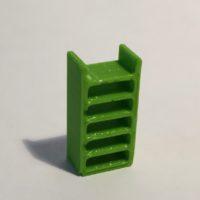 étagère haute étroite verte