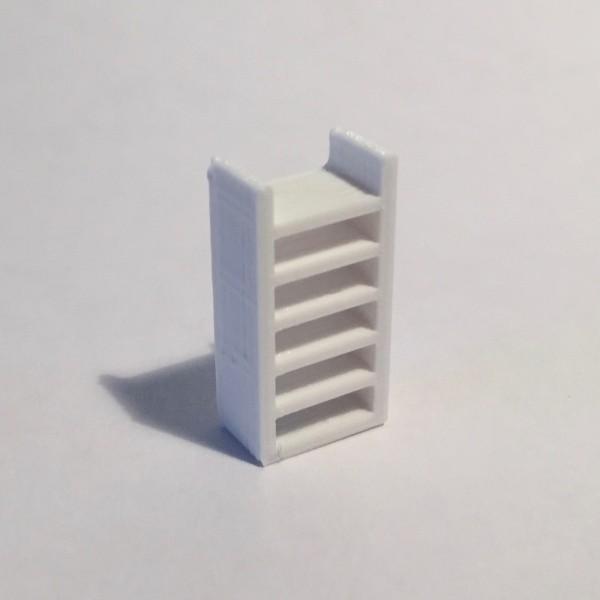 étagère haute étroite blanche