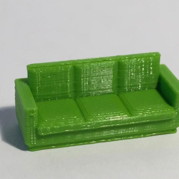 Canapé 3 places vert