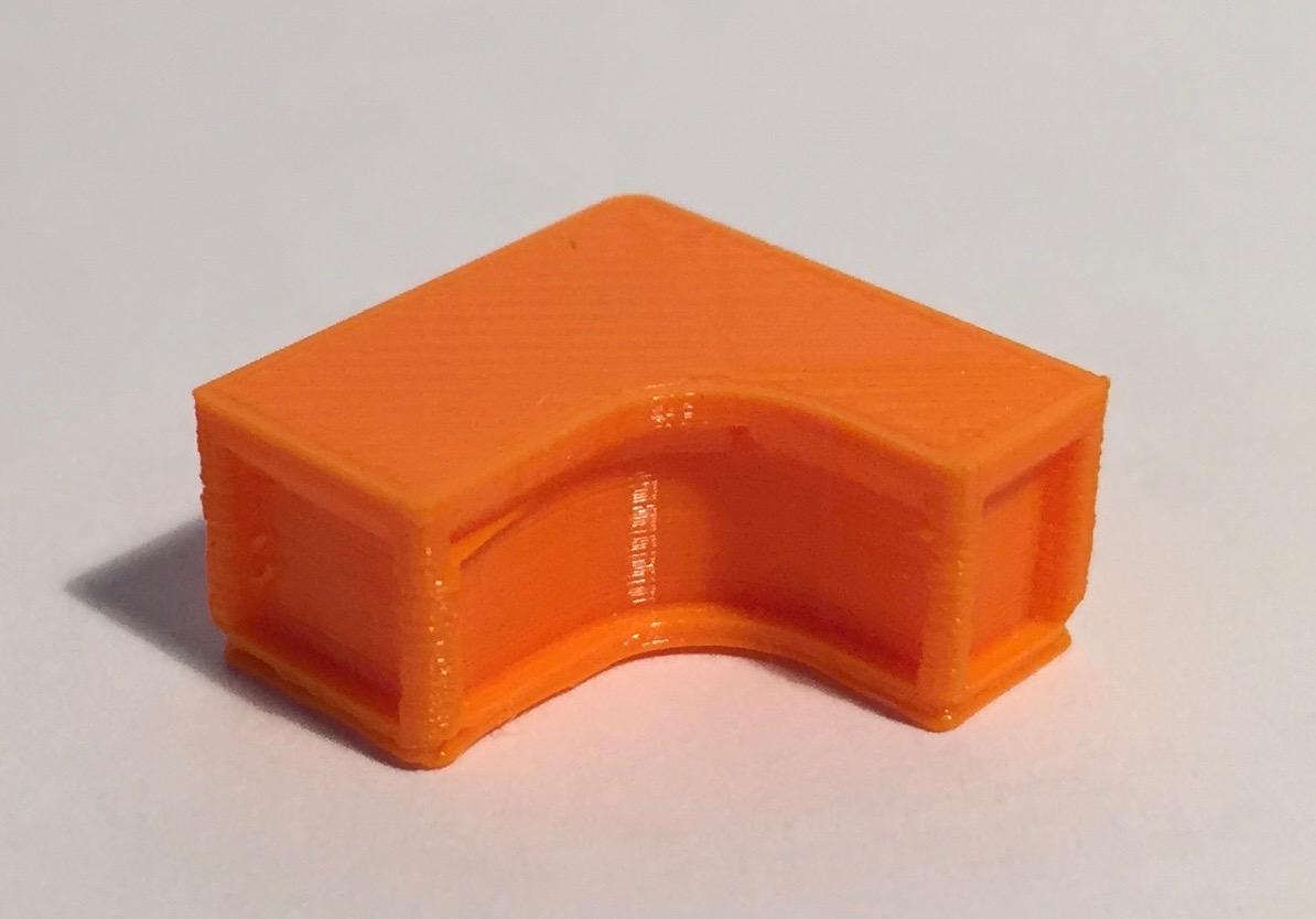 bureau retour à gauche orange