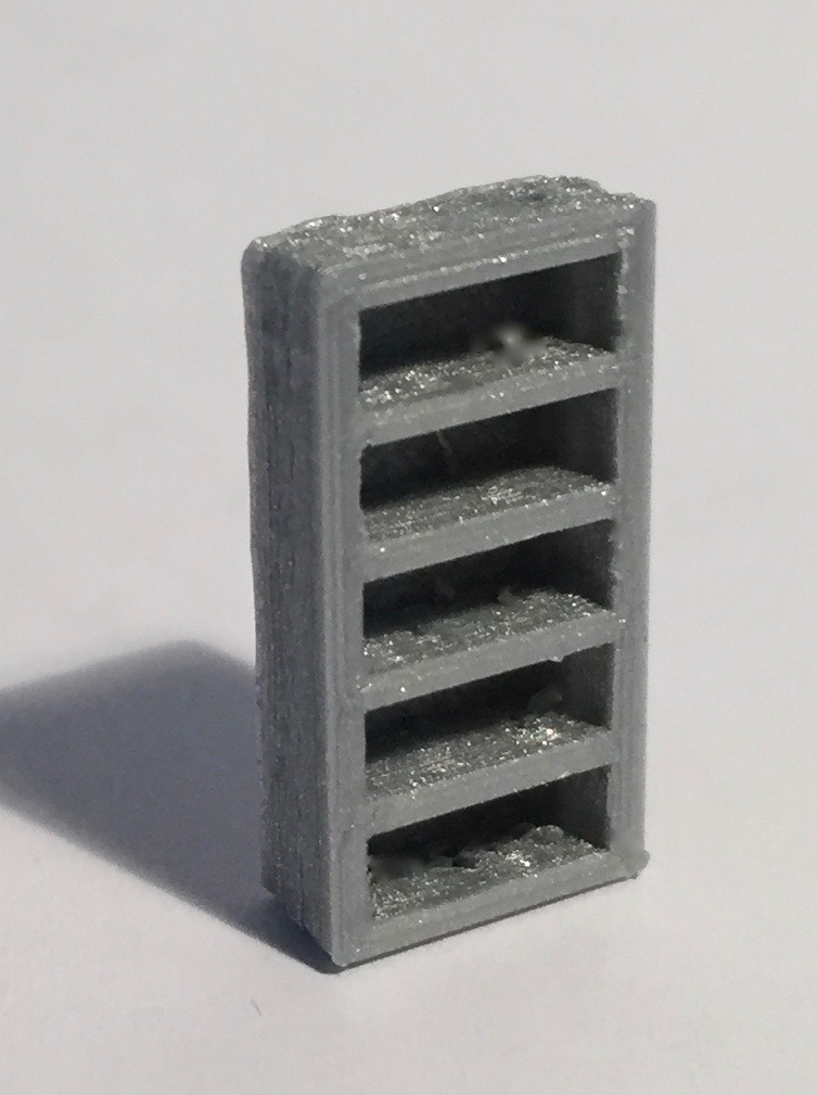 biblioth que haute troite grise 1 50 maquette magn tique 3d. Black Bedroom Furniture Sets. Home Design Ideas