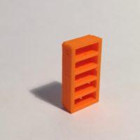bibliothèque haute étroite orange
