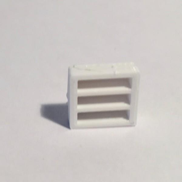Magnet bibliothèque basse large blanche