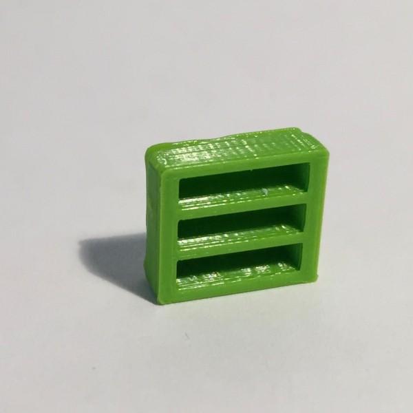 Magnet bibliothèque basse large verte
