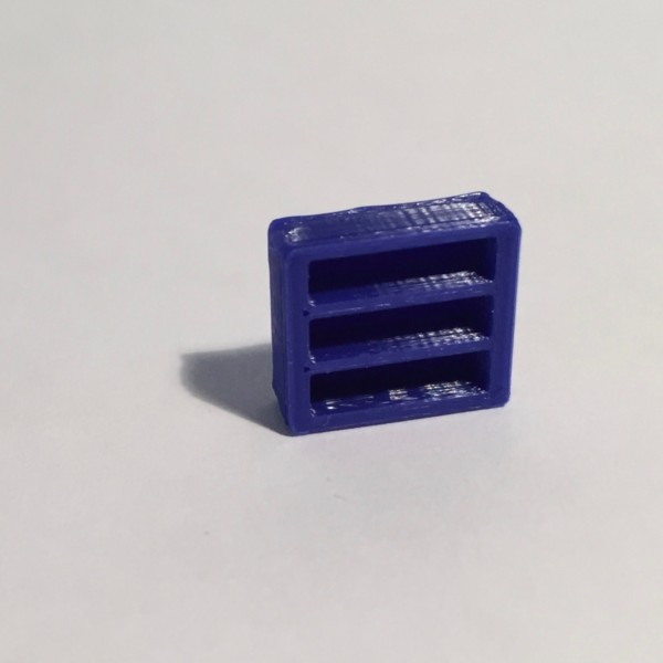 Magnet bibliothèque basse large bleue