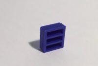 bibliothèque basse étroite bleue