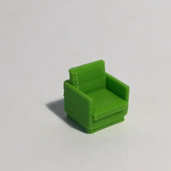 fauteuil vert