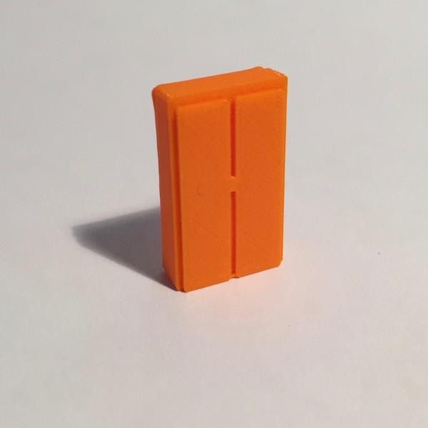 armoire haute large orange