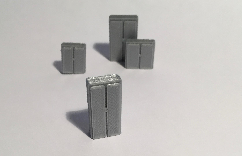 armoire haute troite 1 00 x 0 42 x 2 00 maquette magn tique 3d. Black Bedroom Furniture Sets. Home Design Ideas