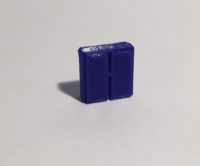 Magnet armoire basse large bleue