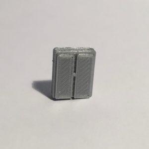 Magnet armoire basse étroite grise