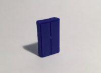 armoire haute large bleue