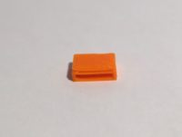 table basse rectangulaire orange