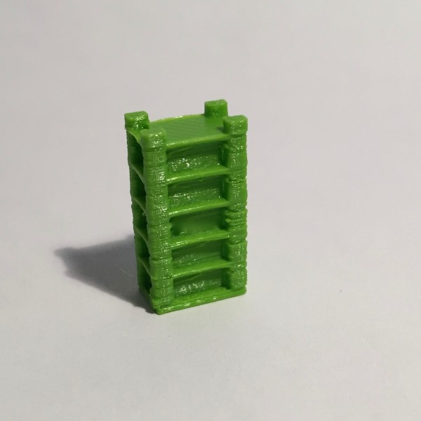 étagère haute large verte