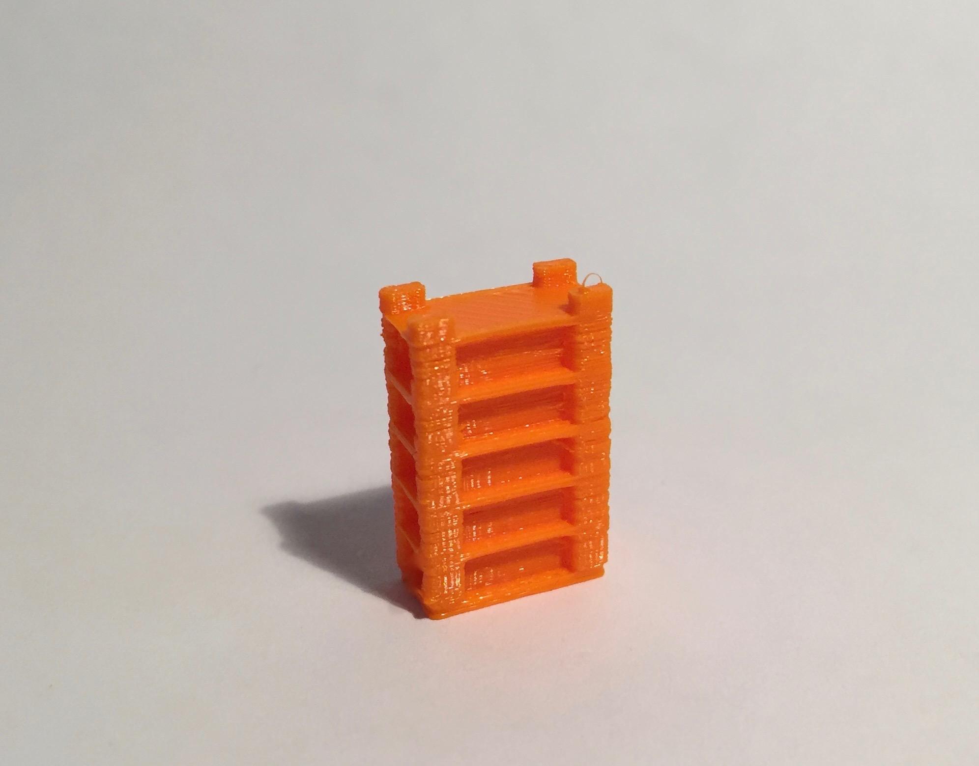 étagère haute large orange
