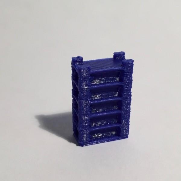 étagère haute large bleue