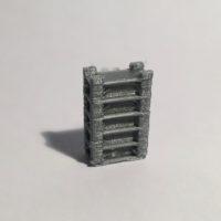 étagère haute large grise