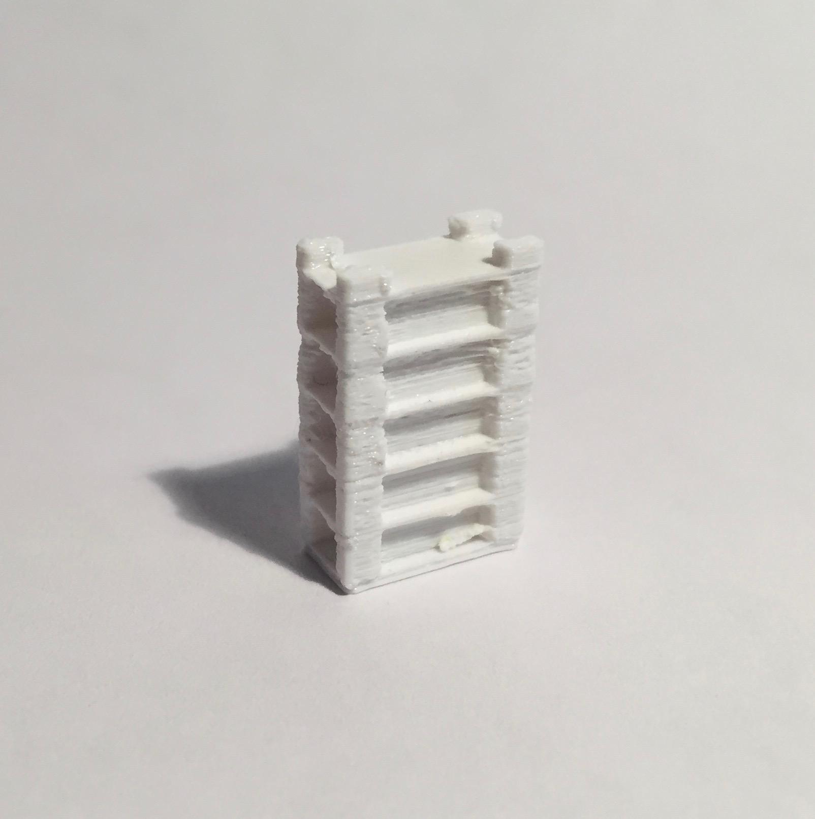 étagère haute large blanche