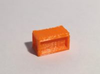 bureau droit 160 orange