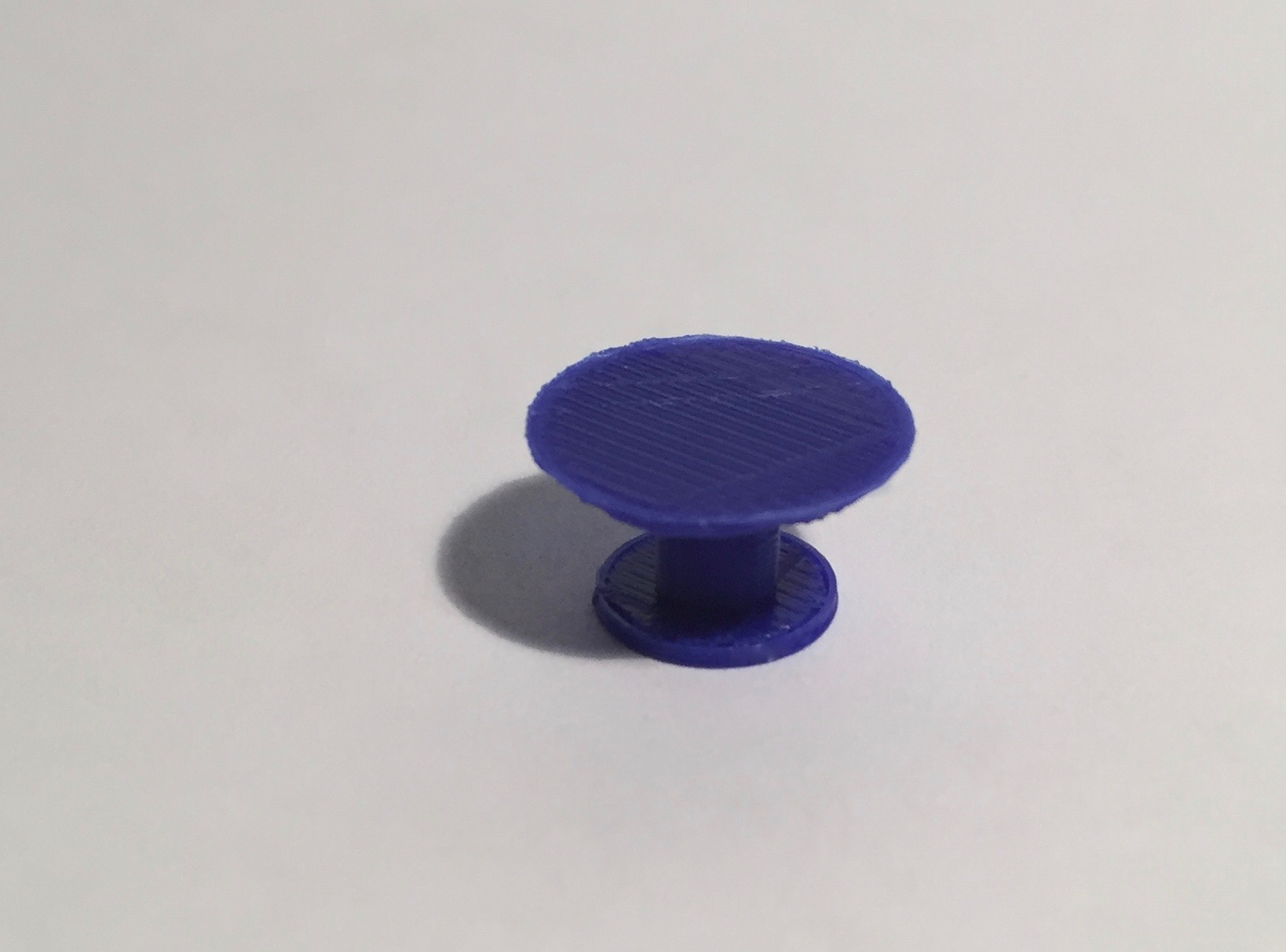 table ronde diamètre 100 bleue