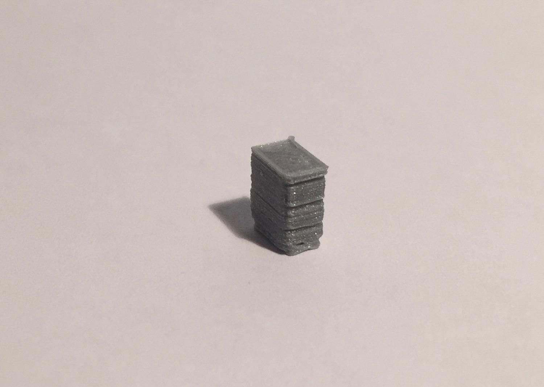 bloc tiroirs gris