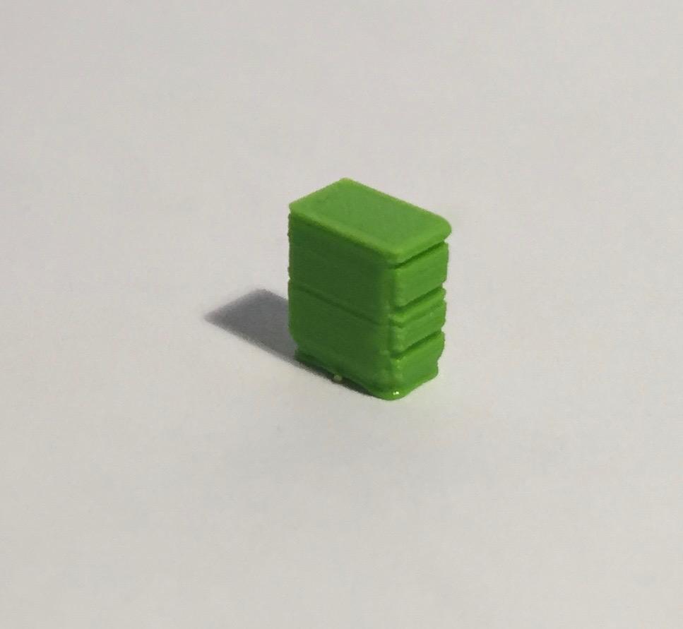 bloc tiroirs vert