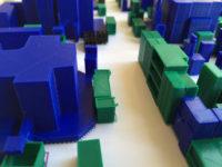Vue de plan d'atelier en impression 3D